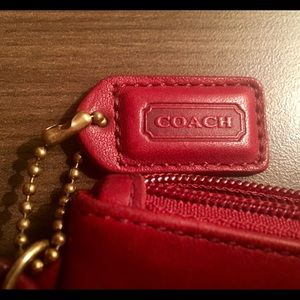 Authentic Red Coach Wristlet